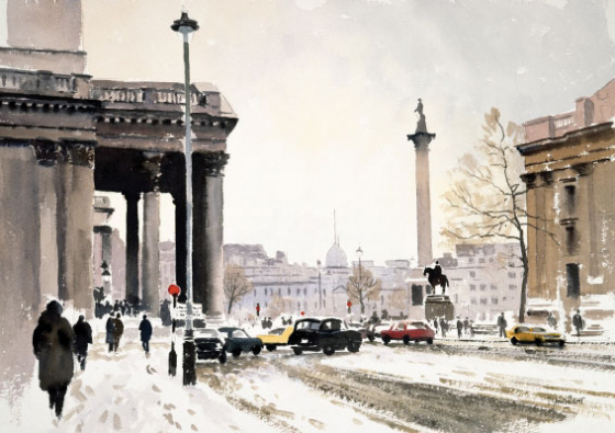 Winter, Trafalgar Square